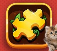 Katzen Puzzle Zeit spielen