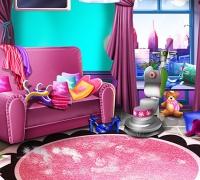 Mädchen Haus Reinigung spielen