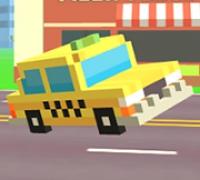 Pixel Road Taxi Depot spielen